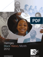 What's on in Haringey Libraries in October  2012 Including complete Black History Month schedule