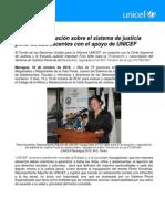 Se realiza evaluación sobre el sistema de justicia penal de adolescentes con el apoyo de UNICEF