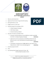 DISI Meeting October 2012 Agenda Packet
