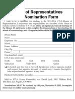 UTLA House of Reps Self Nomination Form