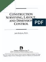 Civl235-Construction Surveying Layout Dimensional Control