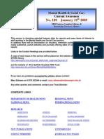 Mental Health Bulletin No 189 January 19th 2009