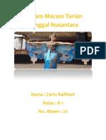 Macam Macam Tarian Tunggal Nusantara