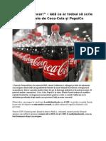 """""""Atenţie, cancer!"""" – iată ce ar trebui să scrie pe sticlele de Coca-Cola şi PepsiCo"""