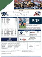 Week 8 - Rams vs. Patriots