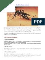Break the Dengue Outbreak