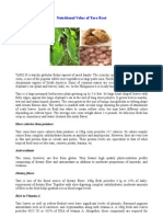 Nutritional Value of Taro Root