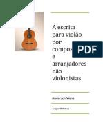 A escrita pafa violão por não violonistas