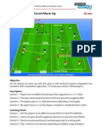 Spanish Academy Soccer Coaching Technical Warm Up