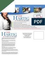 Cindy Hartig for School Board Post Card