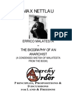 Nettlau, Max - Biography of Errico Malatesta (1922)