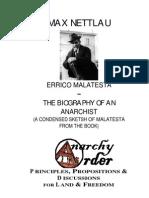 Nettlau, Max - Biography of Errico Malatesta (1922)