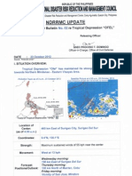 NDRRMC SWB No. 02 Re Tropical Depression OFEL