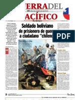 Periódico Los Tiempos.Cochabamba, Bolivia. Guerra del Pacífico. 130 años del conflicto marítimo. Lunes 23 de marzo, 2009