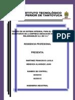 DISEÑO DE UN SISTEMA INTEGRAL PARA EL CONTROL DE INVENTARIOS EN LA EMPRESA DESGUACES METALICOS Y RELAMINABLES S