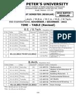 Spu November December 2012 Time Table