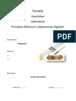 Practica de Laboratirio Resistores