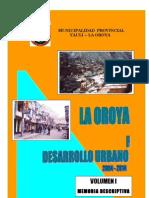 VOL I- Memoria Descriptiva -PDU- La Oroya-2005