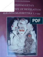 Abhinava Guptas Philosophy of Revelation - Jurgen Hanneder