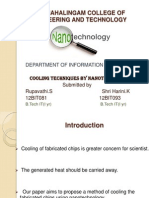 cooling of chips by Nanotechnology