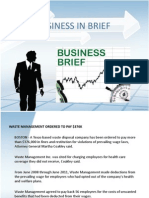 BUSINESS IN BRIEF