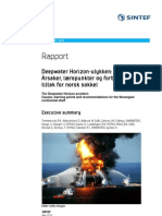 SINTEF, The Deepwater Horizon Accident Causes Learning Points and Recommendations for the Norwegian Continental Shelf 2011, Jun 29 2011