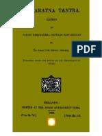 Kamaratna Tantra - Edited by Hemachandra Goswami Tattabhushan(Shillong)