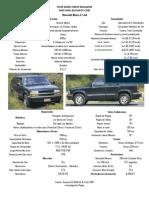 Chevrolet Blazer LT 4x4 (1999) Datos Oficiales y Prueba