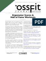 CrossFit Journal 04 02 Erg Scores Hof Workouts | Rowing