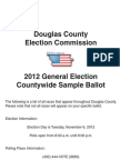 Douglas County, NE Sample Ballot November 6, 2012