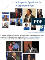 Motivational Keynote Speakers for your Corporate Event