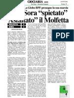 15 Ott.'12 CIOCIARIA OGGI (Sora Asfalta Molfetta, Di Carla de Caris)