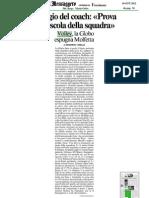 16 Ott.'12 MESSAGGERO FR (Ricci - Prova Maiuscola Della Squadra, Di Beniamino Cobellis)