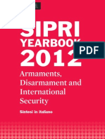 SIPRI Yearbook 2012 Sintesi in italiano