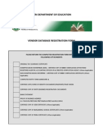 DOE Vendor Database Registration Form Final