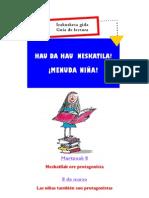 """Guía de lectura de Niñas Protagonistas """"¡Menuda Niña!"""
