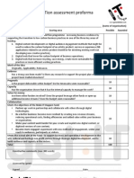 Sustainable Ambition assessment proforma