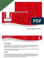 Auditing SAP GRC