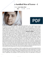 Malala and The Justified War of Terror – I _ My Bit for Change