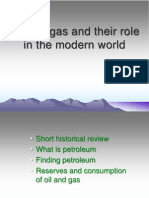 Oil and gas and their role in the modern world