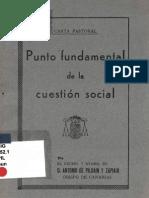 Punto Fundamental de La Cuestion Social - Pildain