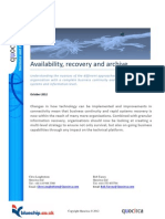 Availability, recovery and archive
