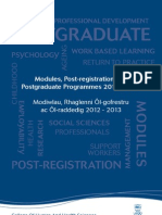College of Human and Health Sciences Postgraduate and CPD Prospectus