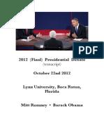 2012 (Final) Presidential Debate (transcript)