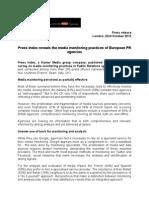 Kantar Media European PR Survey, Press Index