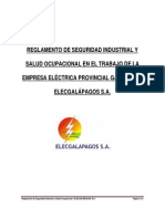 Reglamento Interno Seguridad Industrial Salud Ocupacional Elecgalapagos