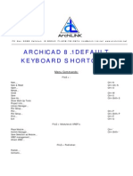 Archicad 81 Keyboard Shortcuts
