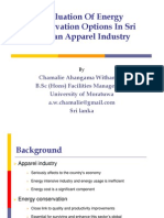 Energy Conservation Options in Apparel Industry
