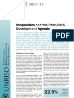 Inequalities and the Post-2015 Development Agenda
