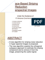 subspace-based stripping noise reduction in hyper spectral images